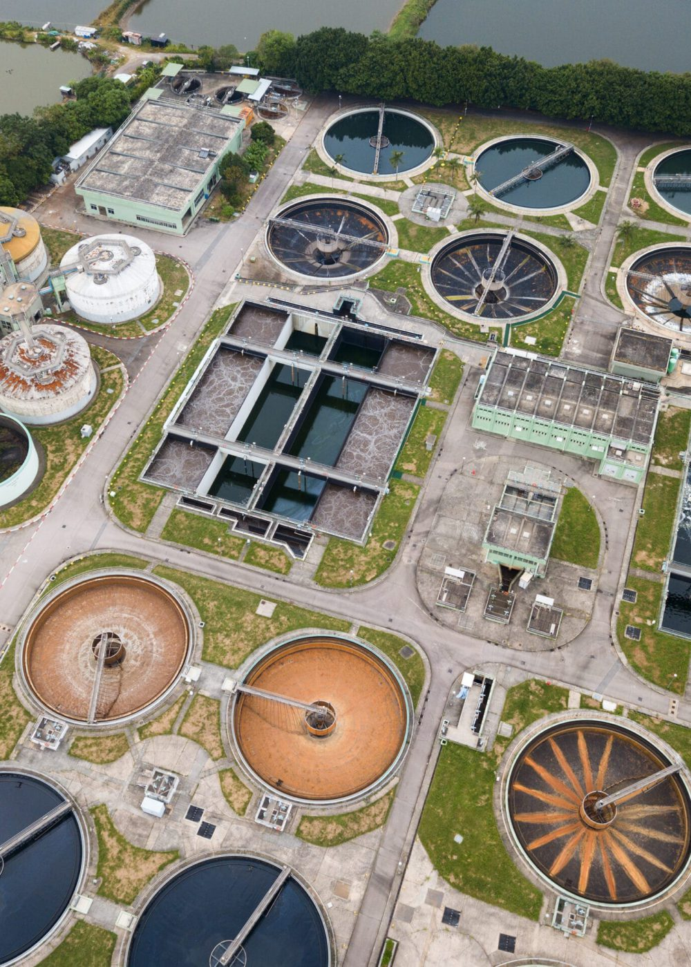 Sewage treatment plant in hong Kong